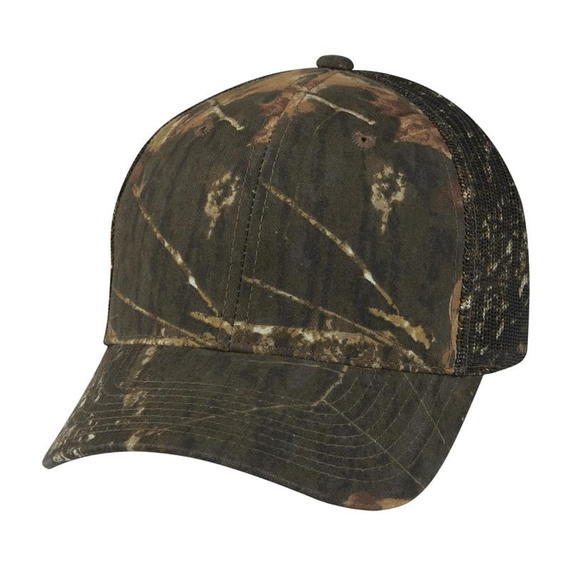 Realtree And Mossy Oak Hunter's Retreat Mesh Back Camouflage Cap