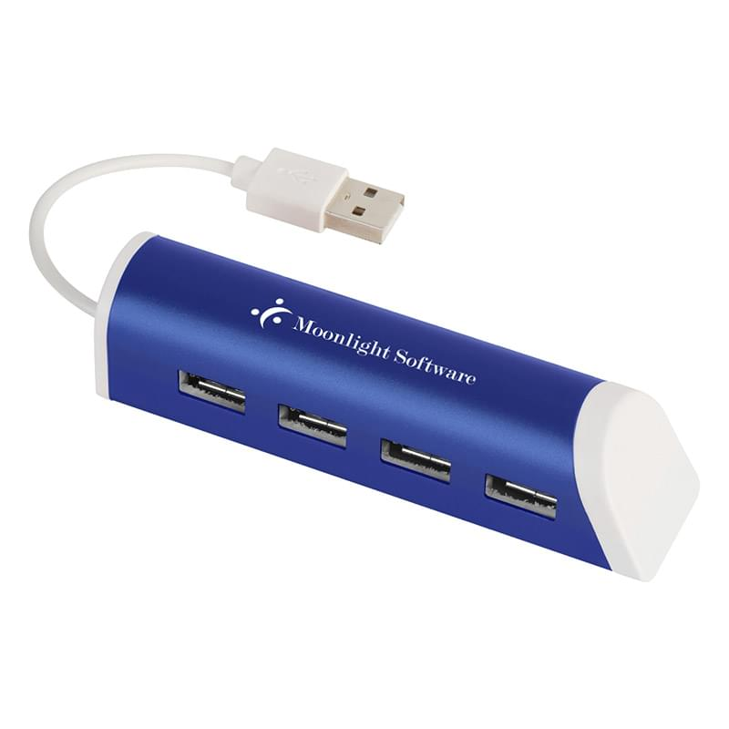 4-Port Aluminum USB Hub With Phone Stand