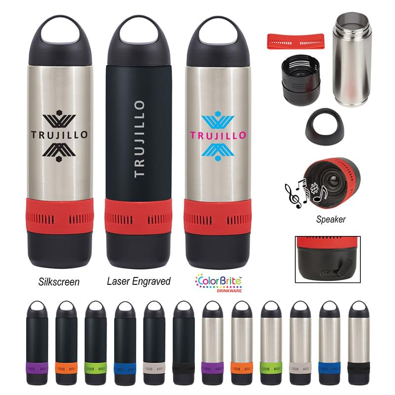 17 Oz. Stainless Steel Rumble Bottle With Speaker