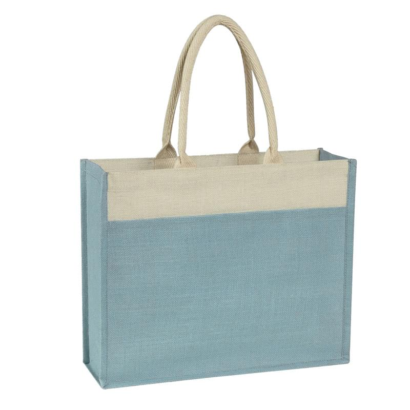 Jute Tote Bag With Front Pocket