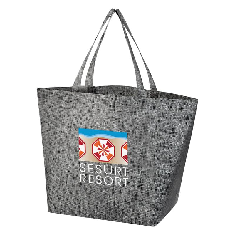 Non-Woven Crosshatched Tote Bag