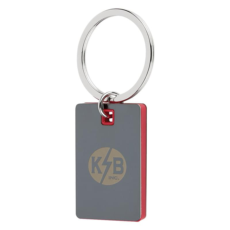Color Block Mirrored Key Tag