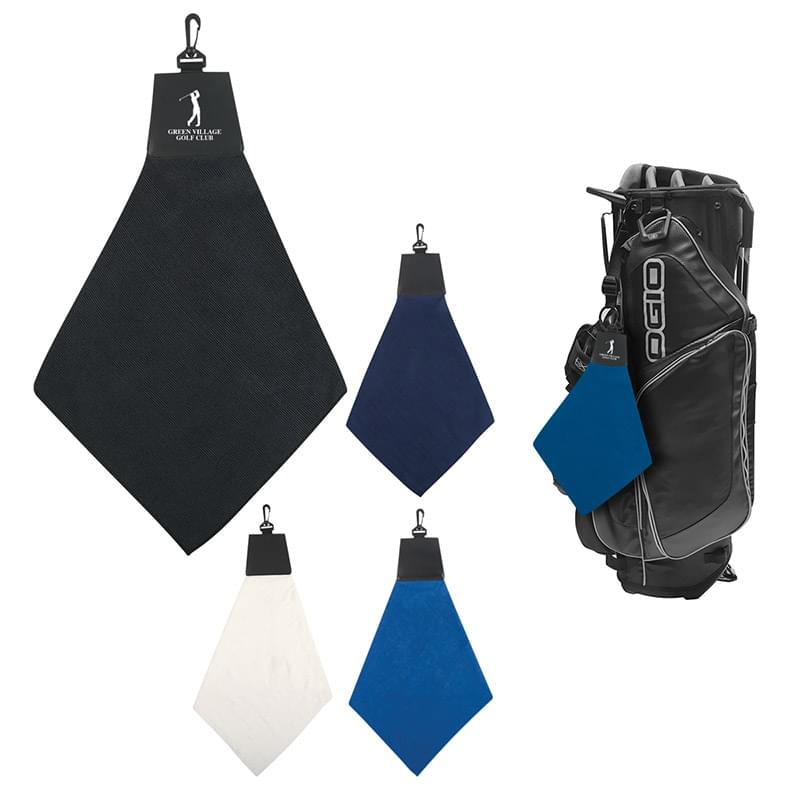 Triangle Fold Golf Towel