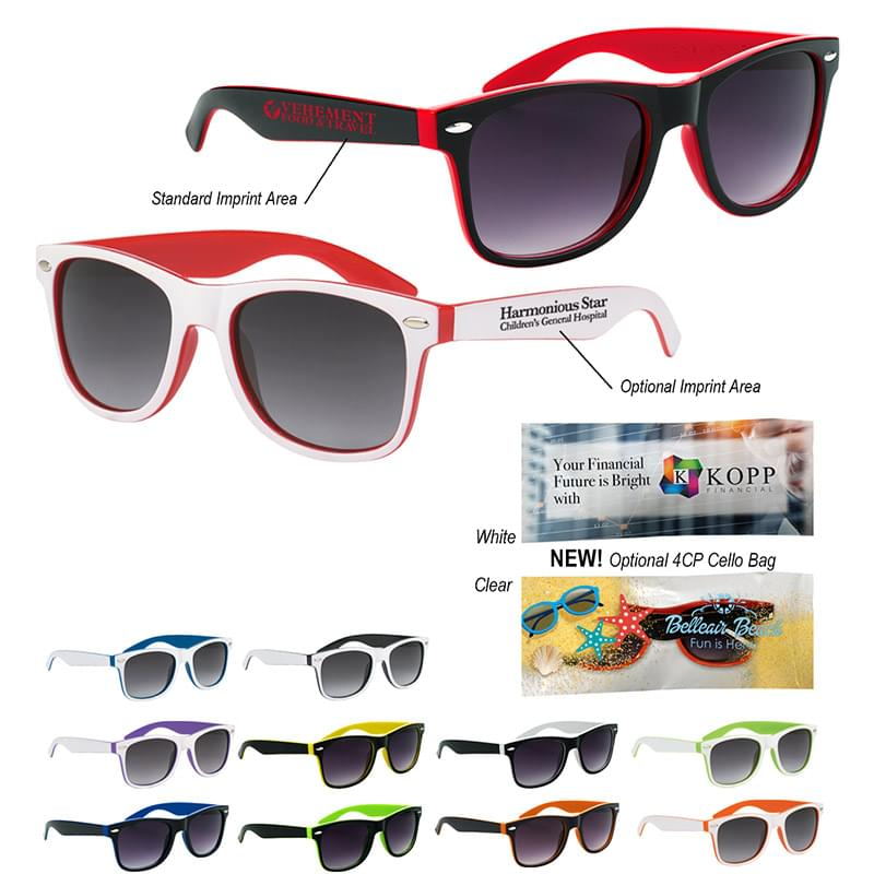 Two-Tone Malibu Sunglasses