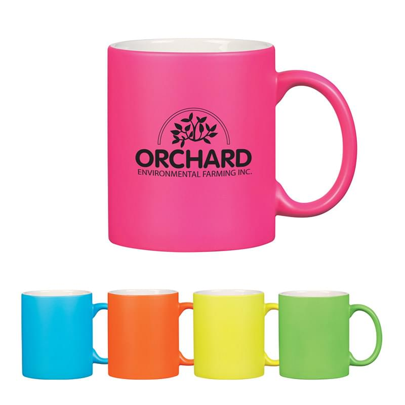 11 Oz . Neon Mug With C-Handle