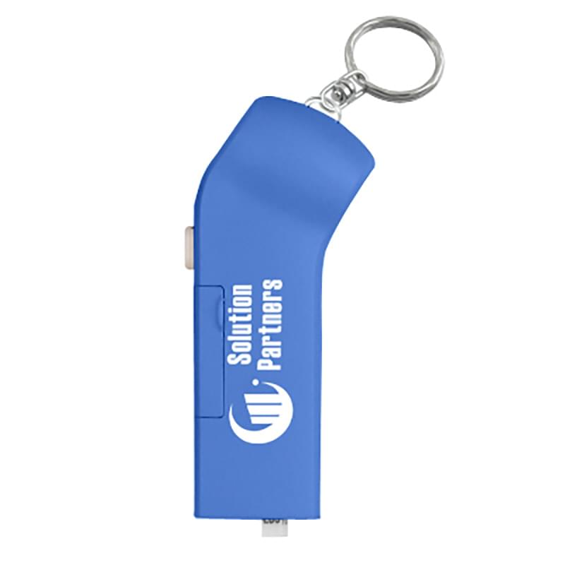 Tire Gauge Flashlight With Key Ring