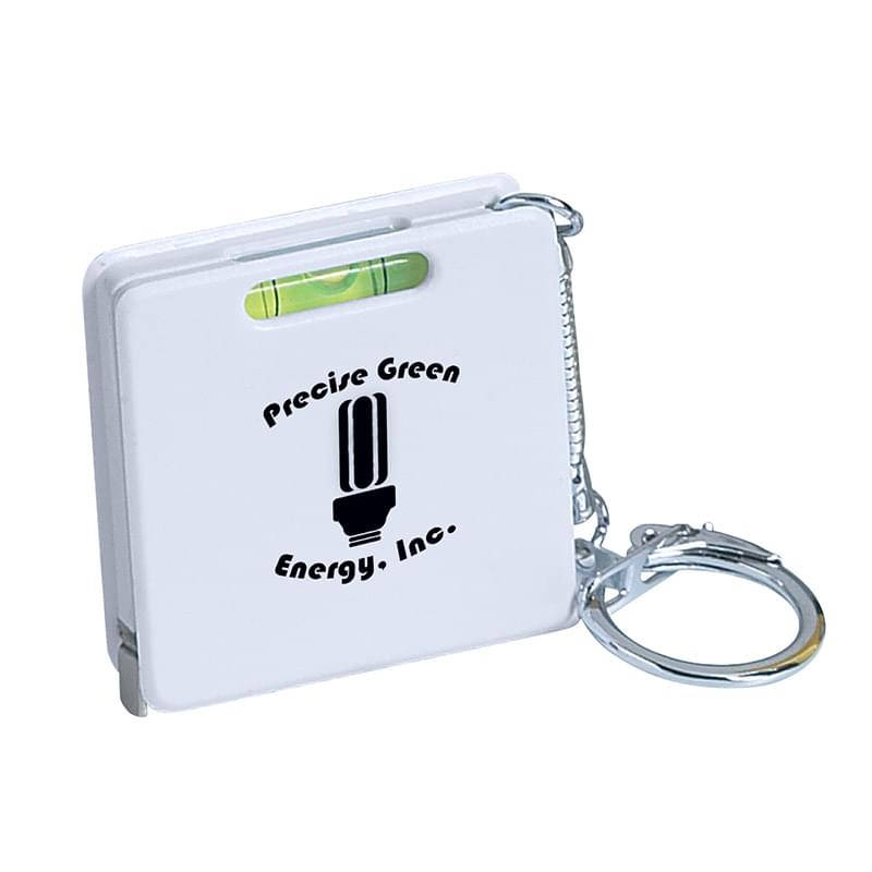 Square Level Tape Measure Key Tag