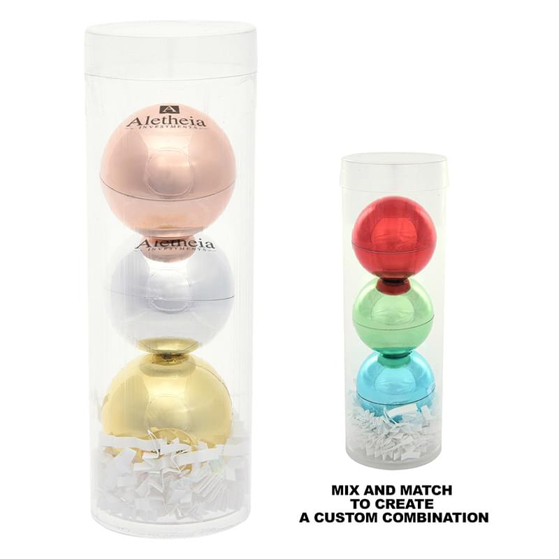 3-Piece Metallic Lip Moisturizer Ball Tube Gift Set