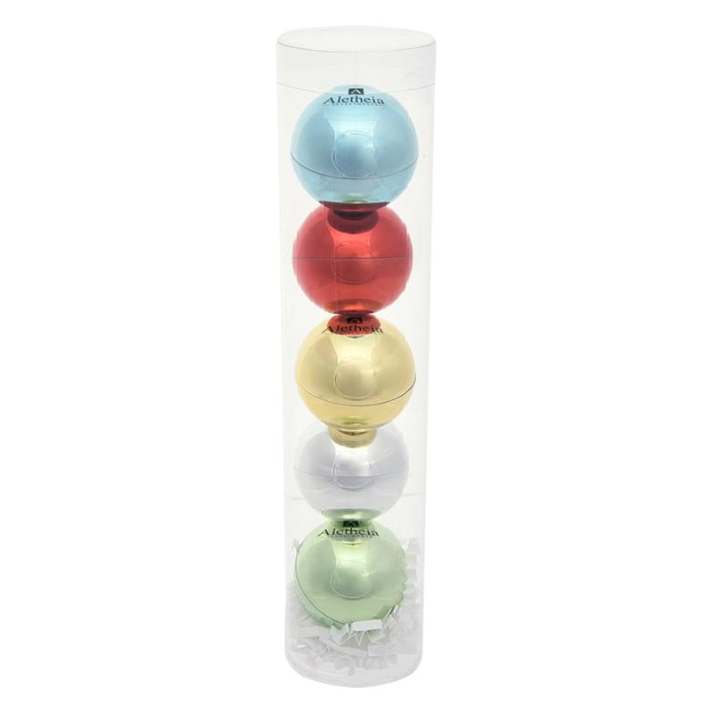 5-Piece Metallic Lip Moisturizer Ball Tube Gift Set