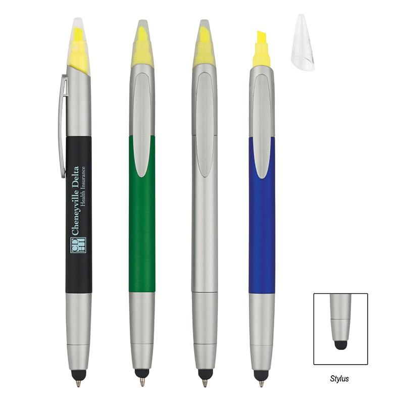 3-In-1 Pen/Highlighter/Stylus