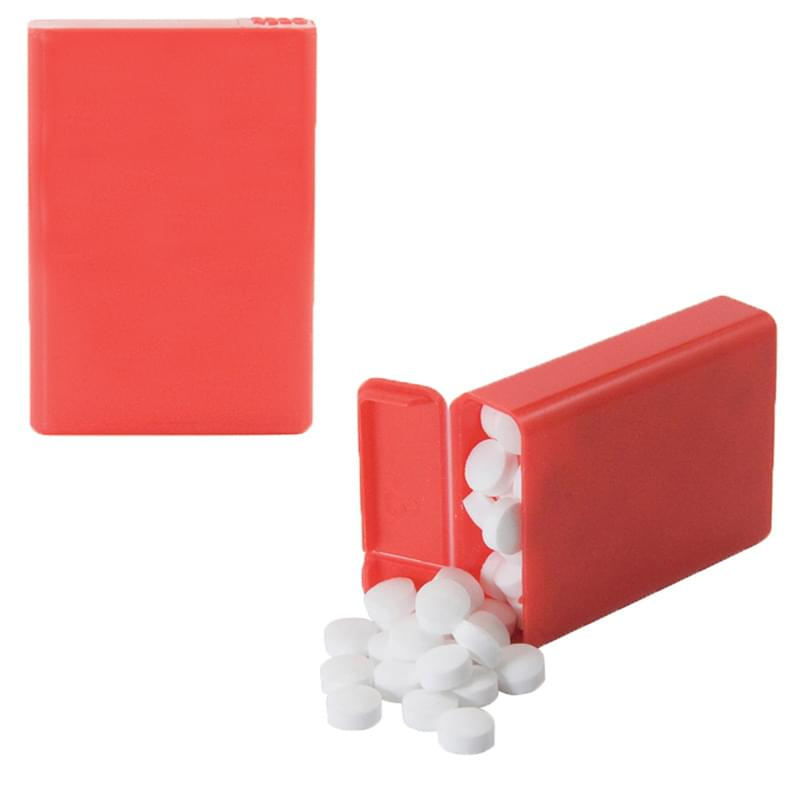 Flip Top Plastic Case with Sugar-Free Mints, Colored Candy