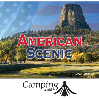 2018 American Scenic Wall Calendar - Stapled