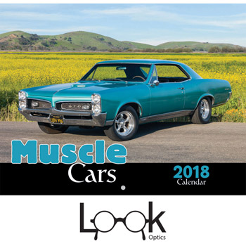 2018 Muscle Cars Wall Calendar - Stapled