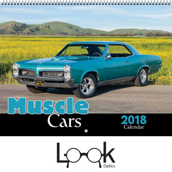 2018 Muscle Cars Wall Calendar - Spiral