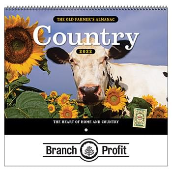 2019 The Old Farmer's Almanac Country Wall Calendar - Spiral