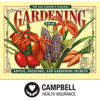 2018 The Old Farmer's Almanac Gardening Wall Calendar - Stapled