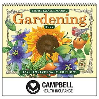 2019 The Old Farmer's Almanac Gardening Wall Calendar - Spiral