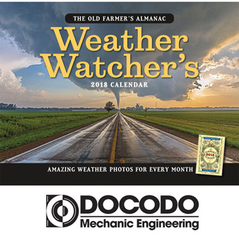 2018 The Old Farmer's Almanac Weather Watcher's Wall Calendar - Stapled