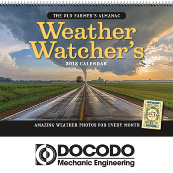 2018 The Old Farmer's Almanac Weather Watcher's Wall Calendar - Spiral