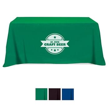 Flat 3-sided Table Cover - fits 6' standard table