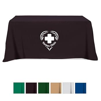 Flat 4-sided Table Cover - fits 6' standard table