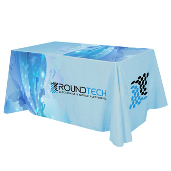 Flat All Over Dye Sub Table Cover - 4-sided, fits 6' table