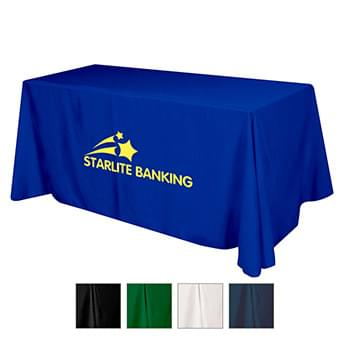 Flat 3-sided Table Cover - fits 6' standard table (100% Polyester)