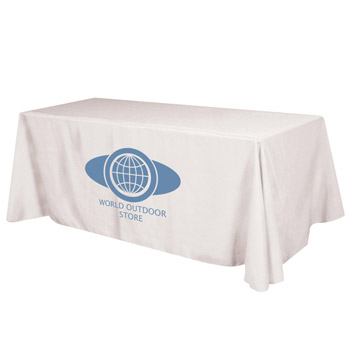 Flat 4-sided Table Cover - fits 8' standard table (100% Polyester)