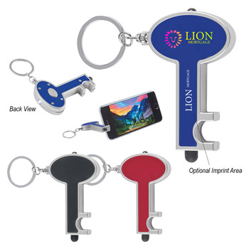 Skeleton Key Tag With LED And Stylus