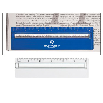 "Plastic 6"" Ruler With Magnifying Glass"