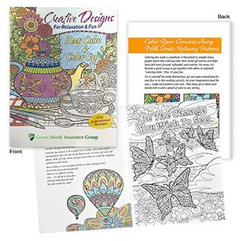 Creative Designs For Relaxation & Fun Adult Coloring Book