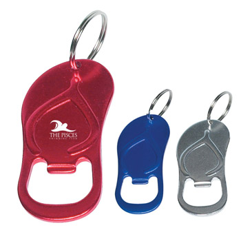 Sandal Bottle Opener Key Ring