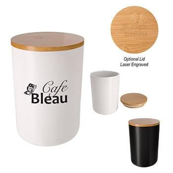 34 Oz. Ceramic Container With Bamboo Lid