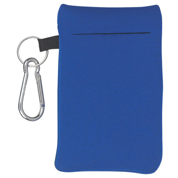 Large Neoprene Portable Electronics Case With Carabiner