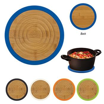 Bamboo And Silicone Trivet