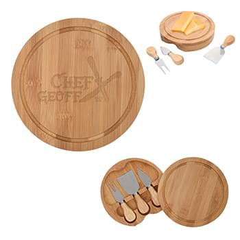 3-Piece Bamboo Cheese Server Kit