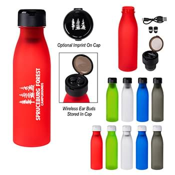 "20 Oz. Tritanâ""¢ Merge Bottle With Wireless Earbuds"