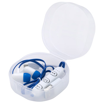 Wireless Earbuds In Frosted Travel Case