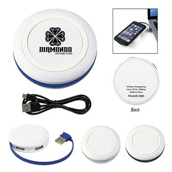 Power-Up Wireless Charging Pad And USB Hub