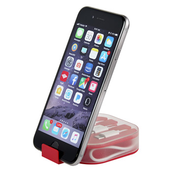 2-In-1 Charge Cable With Phone Stand Travel Case
