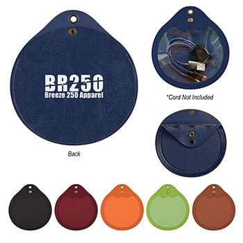 Round Tech Accessories Pouch