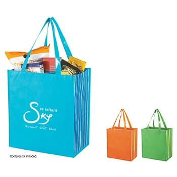 Shiny Laminated Non-Woven Tropic Shopper Tote Bag