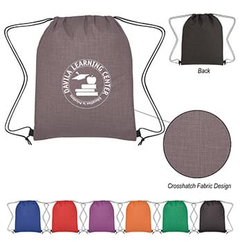 Crosshatch Non-Woven Drawstring Bag