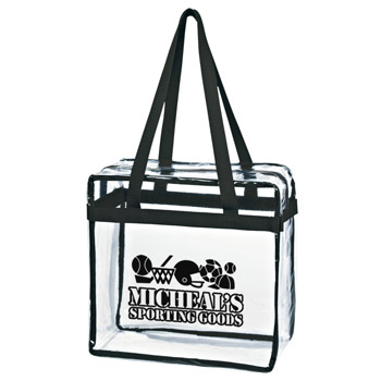 Clear Tote With Zipper