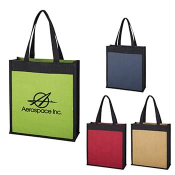 Laminated Jute Tote Bag