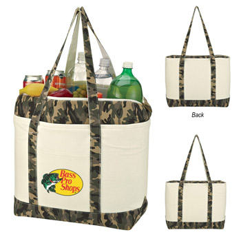 Camo Canvas Kooler Tote Bag