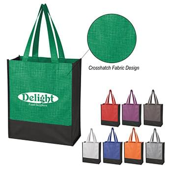 Crosshatch Mini Non-Woven Tote Bag