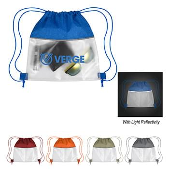 Reflective Heathered Frost Drawstring Bag