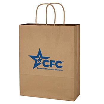 "Kraft Paper Brown Shopping Bag - 10"" x 13"""