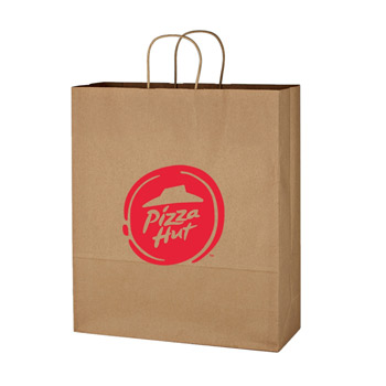 "Kraft Paper Brown Shopping Bag - 16"" x 19"""